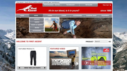 First Ascent Website Design