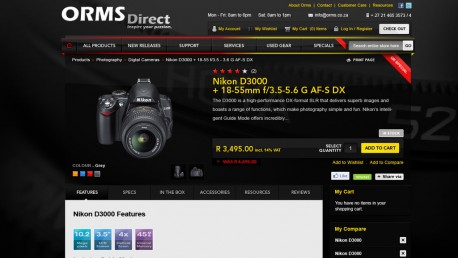 ORMS Direct Website eCommerce Development